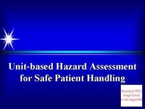 Unitbased Hazard Assessment for Safe Patient Handling 1