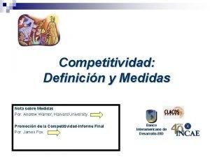 Competitividad Definicin y Medidas Nota sobre Medidas Por