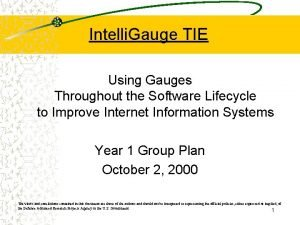 Intelli Gauge TIE Using Gauges Throughout the Software