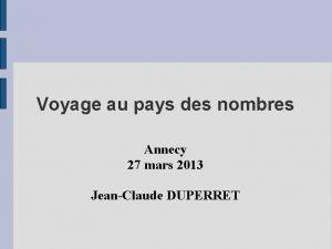 Voyage au pays des nombres Annecy 27 mars