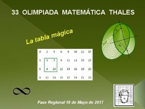 33 OLIMPIADA MATEMTICA THALES a c i g