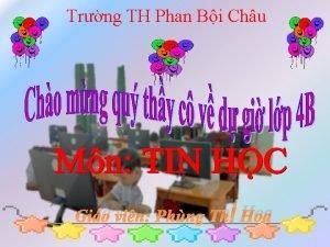 Trng TH Phan Bi Chu Gio vin Phng