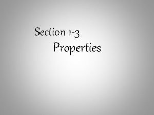 Section 1 3 Properties Commutative property of addition