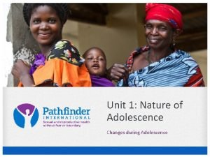 Unit 1 Nature of Adolescence Changes during Adolescence