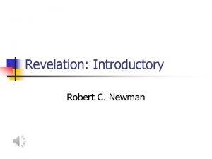 Revelation Introductory Robert C Newman Authorship of Revelation