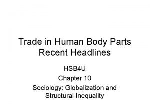 Trade in Human Body Parts Recent Headlines HSB