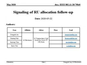 May 2020 doc IEEE 802 11 20798 r