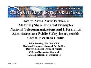How to Avoid Audit Problems Matching Share and