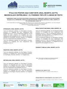 TTULO DO PSTER AQUI COM FONTE ARIAL NEGRITO