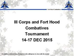 Fort Hood Combatives III Corps and Fort Hood