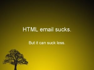 HTML email sucks But it can suck less
