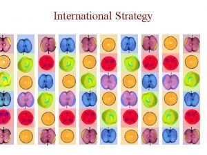 International Strategy International Strategy International Strategy IS firm