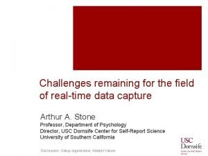 Challenges remaining for the field of realtime data