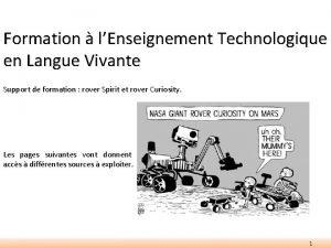 Formation lEnseignement Technologique en Langue Vivante Support de