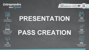 PRESENTATION PASS CREATION Exemple titre de lanimation Exemple