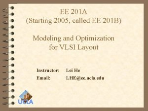 EE 201 A Starting 2005 called EE 201