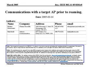 March 2005 doc IEEE 802 11 050201 r