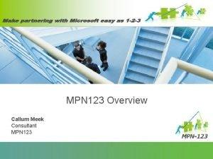 MPN 123 Overview Callum Meek Consultant MPN 123