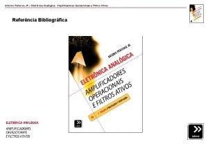 Antonio Pertence JR Eletrnica Analgica Amplificadores Operacionais e