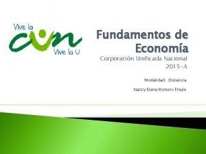 Fundamentos de Economa Corporacin Unificada Nacional 2015 A