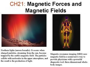 CH 21 Magnetic Forces and Magnetic Fields Northern