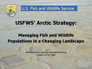 U S Fish and Wildlife Service USFWS Arctic