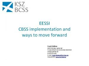 EESSI CBSS implementation and ways to move forward