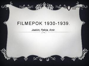 FILMEPOK 1930 1939 Joakim Felicia Amir ADOLF HITLER