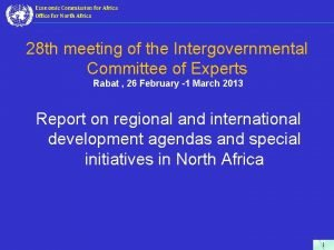 Economic Commission for Africa Office for North Africa