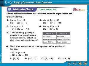 Over Lesson 6 4 Over Lesson 6 4