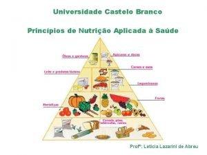 Universidade Castelo Branco Princpios de Nutrio Aplicada Sade