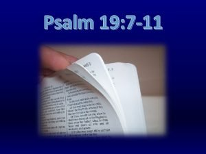 Psalm 19 7 11 Psalm 19 11 Moreover