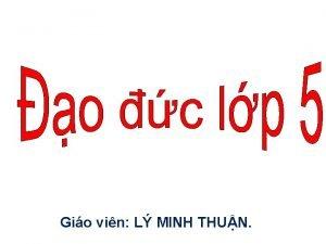 Gio vin L MINH THUN Th no l