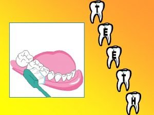 Your Teeth Unlike your heart or brain your