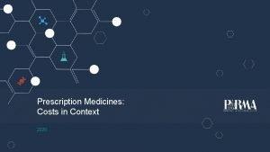Prescription Medicines Costs in Context 2020 Prescription Medicines