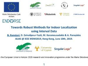 Towards Robust Methods for Indoor Localization using Interval