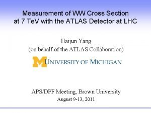 Measurement of WW Cross Section at 7 Te