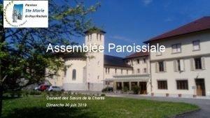 Assemble Paroissiale Couvent des Surs de la Charit