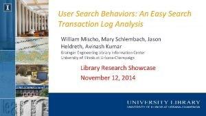 User Search Behaviors An Easy Search Transaction Log