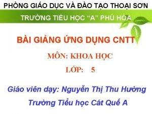 PHNG GIO DC V O TO THOI SN
