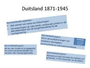 Duitsland 1871 1945 Het Duitse keizerrijk 19 e