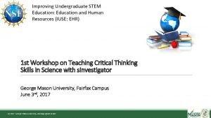Improving Undergraduate STEM Education Education and Human Resources