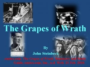The Grapes of Wrath By John Steinbeck enotes