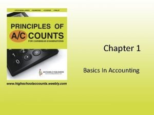 Chapter 1 Basics In Accounting Accounting Defined Accounting
