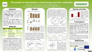 The benefit of wind atlases in wind energy