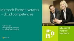 Microsoft Partner Network cloud competencies Rgis Laurent Director