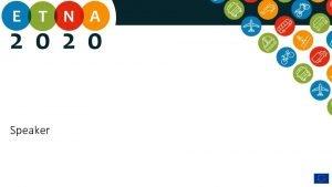 Speaker TRA conference Vienna H 2020 Smart Green