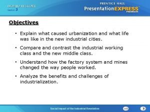 Chapter Section 25 3 Section 1 Objectives Explain