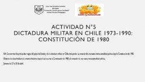 NUEVA INSTITUCIONALIDAD POLTICA a PROYECTO POLTICO INSTITUCIONAL DE