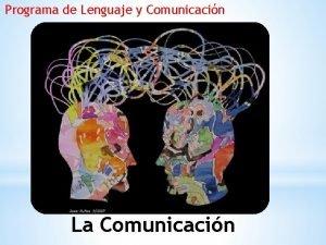Programa de Lenguaje y Comunicacin La Comunicacin Del